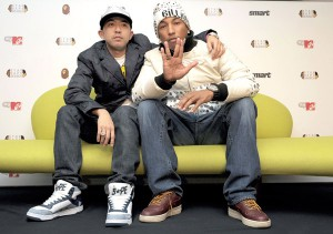 Nigo(L), Pharrell Williams (R)