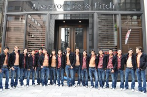Abercrombie & Fitch Ginza store models