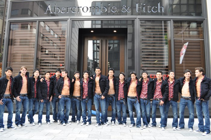 Abercrombie & Fitch Ginza store models and Poster