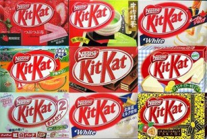 kitkat various flavors