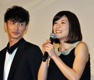 "Juri Ueno and  Hiroshi Tamaki at first opening day for  ""Nodame Cantabile: The Final Score – Part I"""