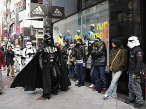 Darth Vader at the adidas Original Shop in Shibuya