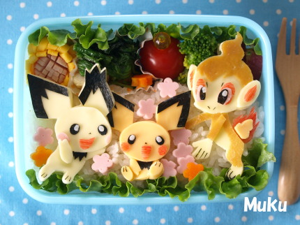 Pokemon characters on bento
