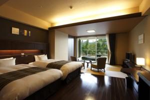 A Guest Room of the Hotel Wellseason Hamanako.