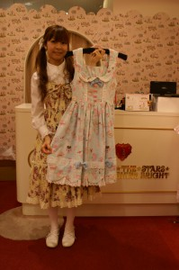 Scalloped dress (Heart marble chocolate and sugar coated cookie pattern) 24,990yen
