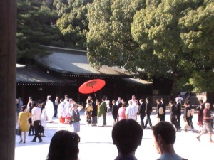 Wedding ceremony in Meiji Shrine