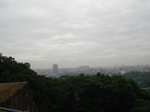 Sendai city from Aoba castle