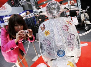 Swarovski crystals x Scooter at  Tokyo Motorcycle Show