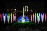 Odaiba water illumination Spring 2010