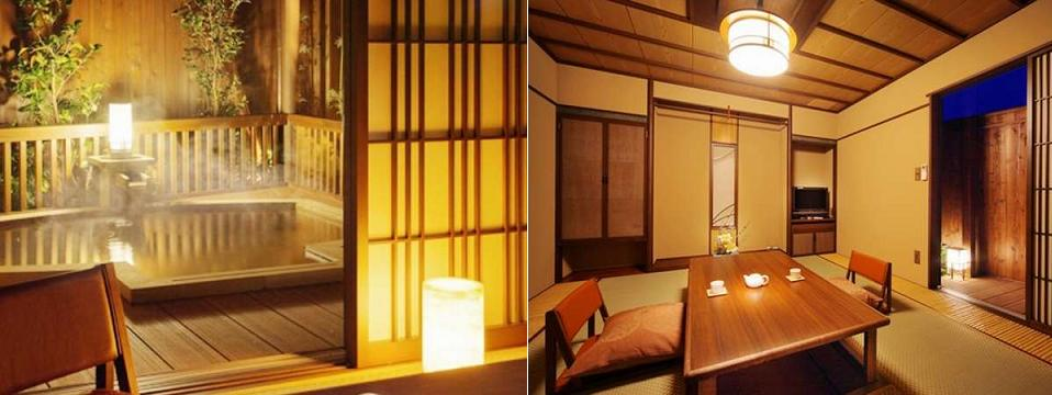 A Room of Annex Kinokuniya and its Onsen bath.