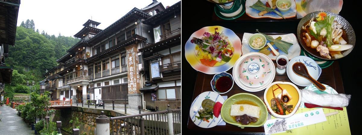 CJG 7 Notoya ryokan whole scene+Dinner