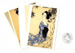 Post cards printed in Takehisa's work are available at the shop