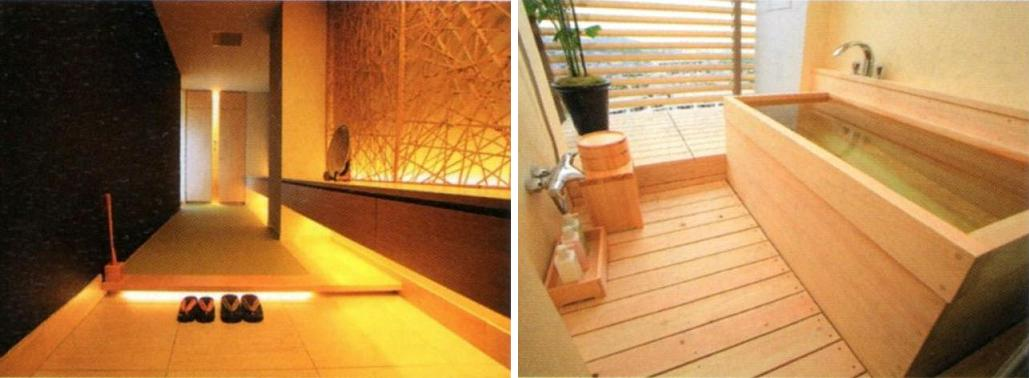 entrance+ hinoki bathtub