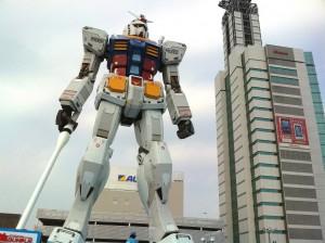 1/1 real size scale image of 'Gundam' in Shizuoka