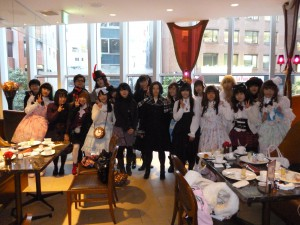 "Tea party of ""Alice in Wonderland""by Gothic&Lolita&Punk no kai"