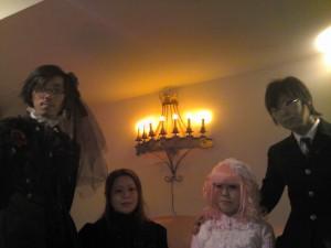 Triple fortune tea party guests