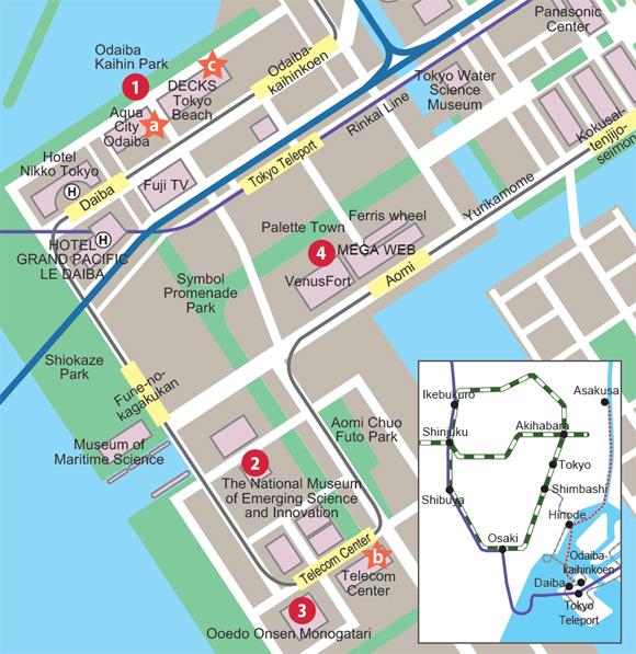 Tokyo Odaiba the hot spot for tourists TenkaijapanCool Japan